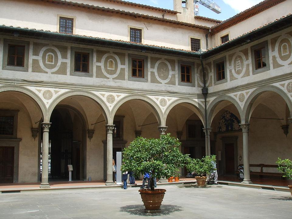 Filippo Brunelleschi. Spedale degli Innocenti. 1419. Chiostro degli uomini. Firenze