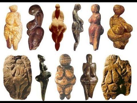 Esempi di Veneri paleolitiche appartenenti a diverse facies.
