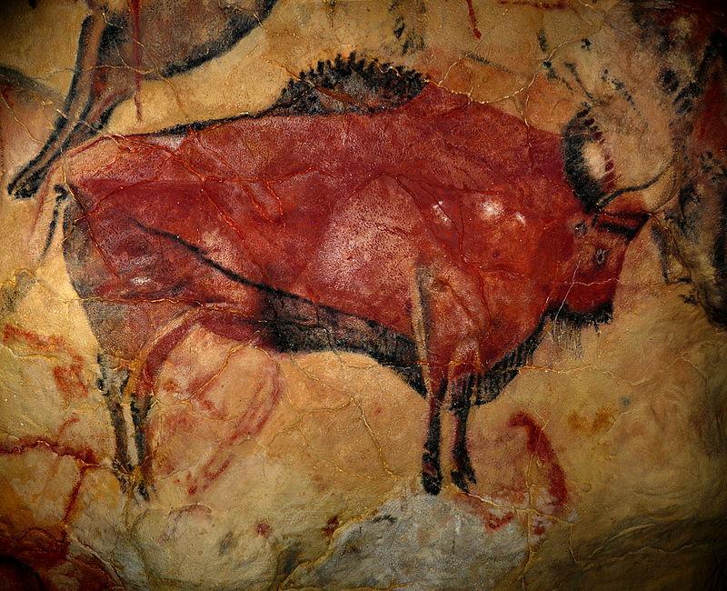 Bisonte. Pittura rupestre. Grotta di Altamira. Spagna
