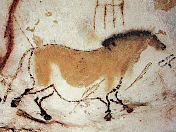 Cavallo. Pittura rupestre. Lascaux Francia