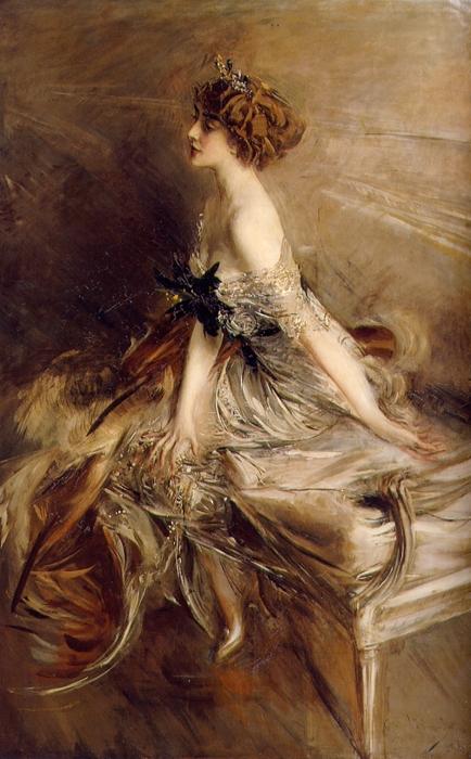 Giovanni Boldini. Ritratto della principessa Marthe-Lucile Bibesco, 1911, olio su tela, 183 × 120 cm, collezione privata.